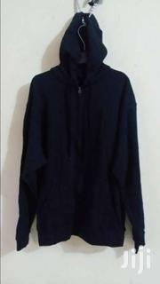 ZIP HOODED SWEAT SHIRT BLACK | Clothing for sale in Dar es Salaam, Temeke