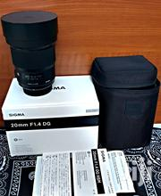 Sigma 20mm F/1.4 DG HSM Art Lens For Nikon F | Cameras, Video Cameras & Accessories for sale in Dar es Salaam, Kinondoni