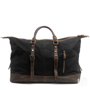 Leather And Canvas Duffel Bag, Vintage Canvas Travel