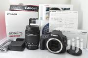 Canon EOS Kiss X7 Digital SLR Camera White EF-S 18-55 IS Lens Kitw/Box | Photo & Video Cameras for sale in Dar es Salaam, Kinondoni